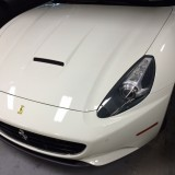 Ferrari California with front clear bra protection
