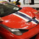 Ferrari 458 Speciale full hood clear bra paint protection install
