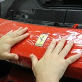 Ferrari 458 Speciale clear bra installation on bumper