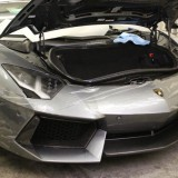 Clear bra installation on Lamborghini bumper